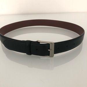 Coach black leather belt M
